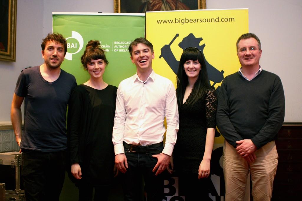 (L-R) David Kitt, Margie Lewis, Julien Clancy, Laura Sheeran, Michael Browne (MD Big Bear Sound)