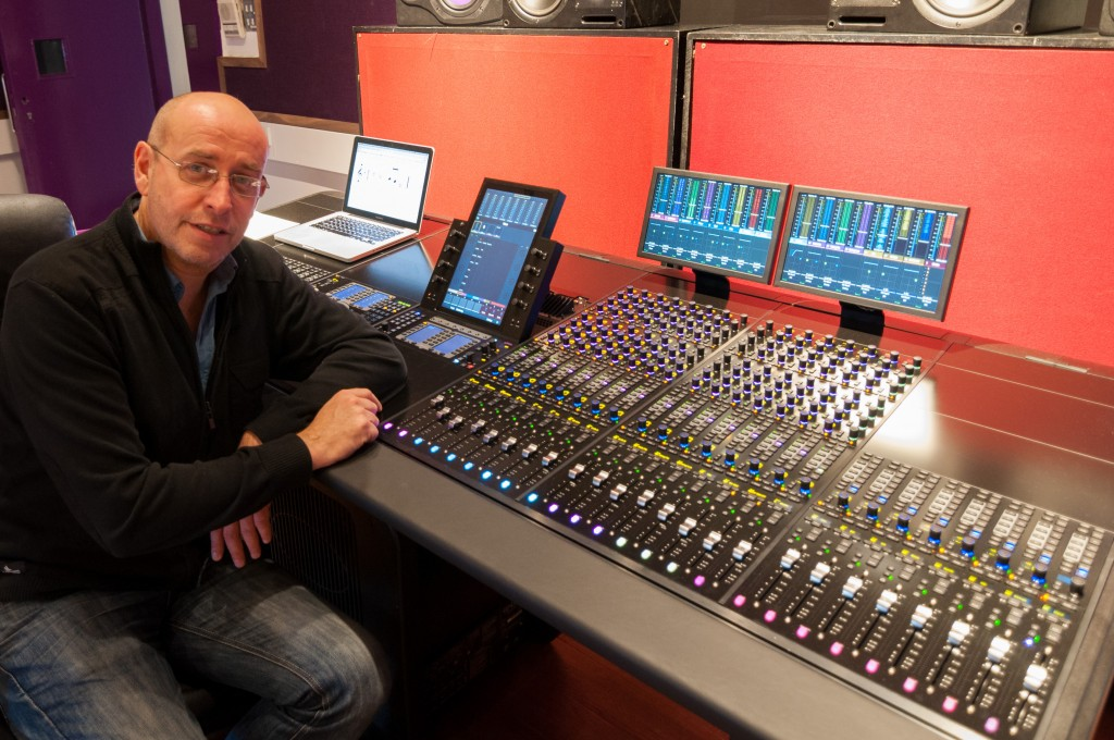 Dave Christophers, Principal of Sound Training College, with their new 32-fader Avid S6 console.